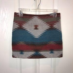 Aztec tribal print mini